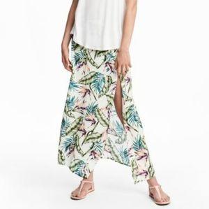H&M botanical/tropical maxi skirt